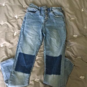 Pacsun High waisted color block jeans size 25